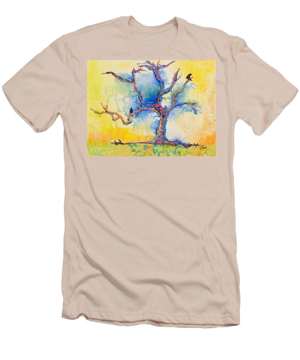 Abstract Painting Men's T-Shirt (Athletic Fit) featuring the mixed media The Wind Riders by Pat Saunders-White