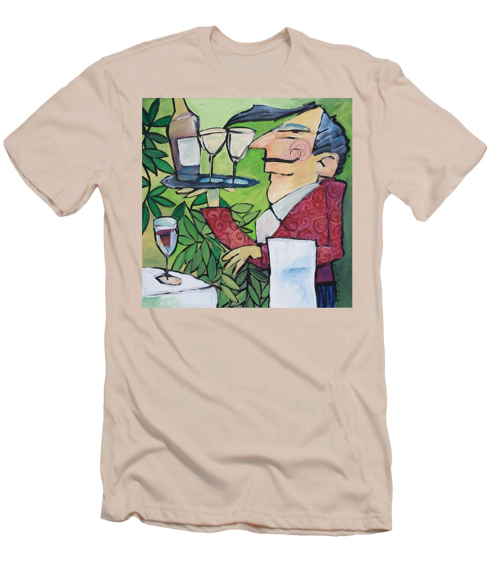 Wine Men's T-Shirt (Athletic Fit) featuring the painting The Wine Steward by Tim Nyberg