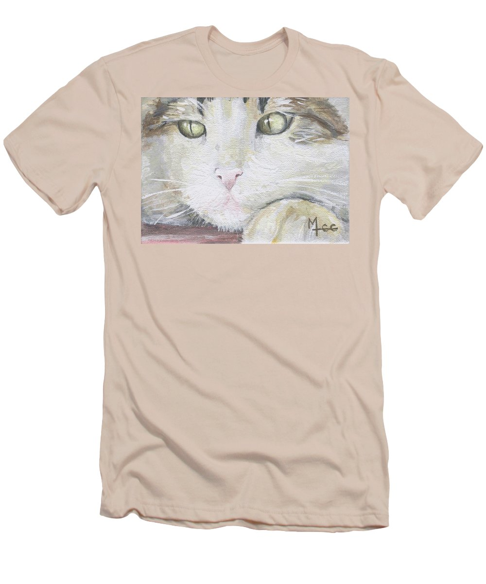 Charity Men's T-Shirt (Athletic Fit) featuring the painting Tommy by Mary-Lee Sanders