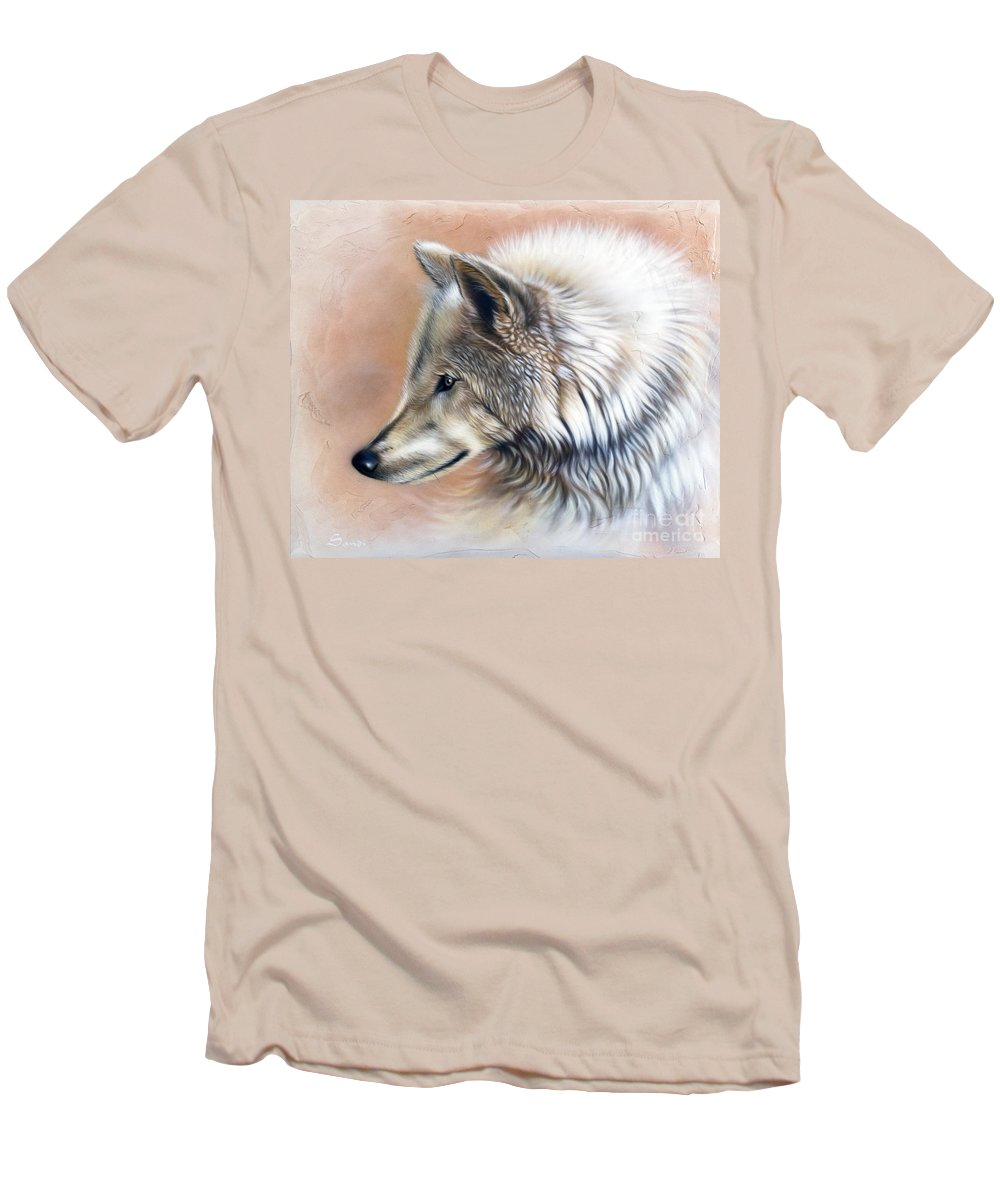 Wolves Men's T-Shirt (Athletic Fit) featuring the painting Trace IIi by Sandi Baker