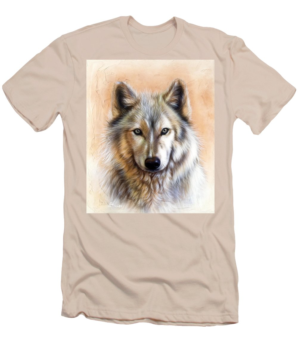 Wolves Men's T-Shirt (Athletic Fit) featuring the painting Trace Two by Sandi Baker