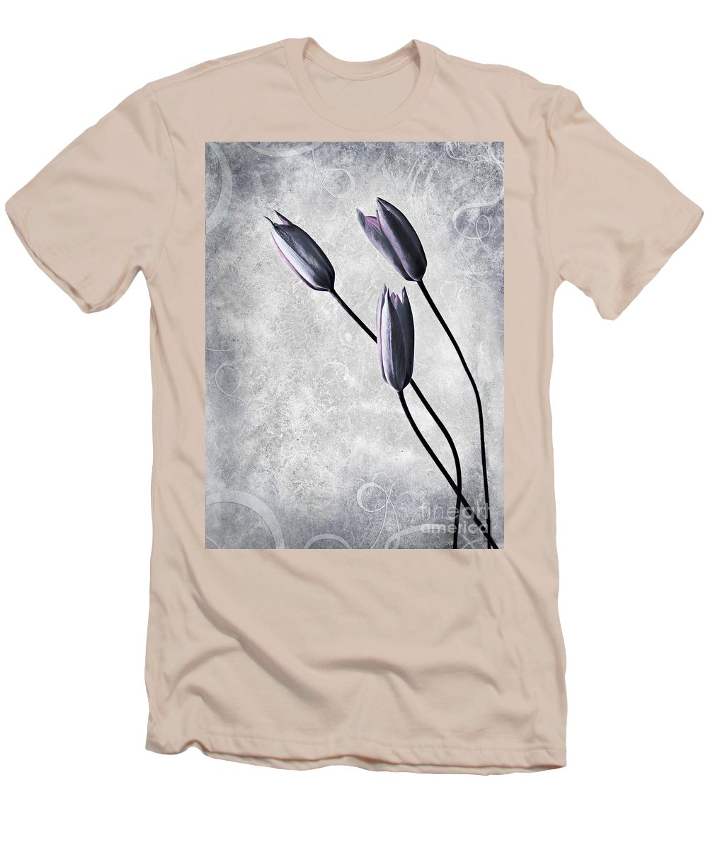Flowers Men's T-Shirt (Athletic Fit) featuring the photograph Tulips by Jacky Gerritsen