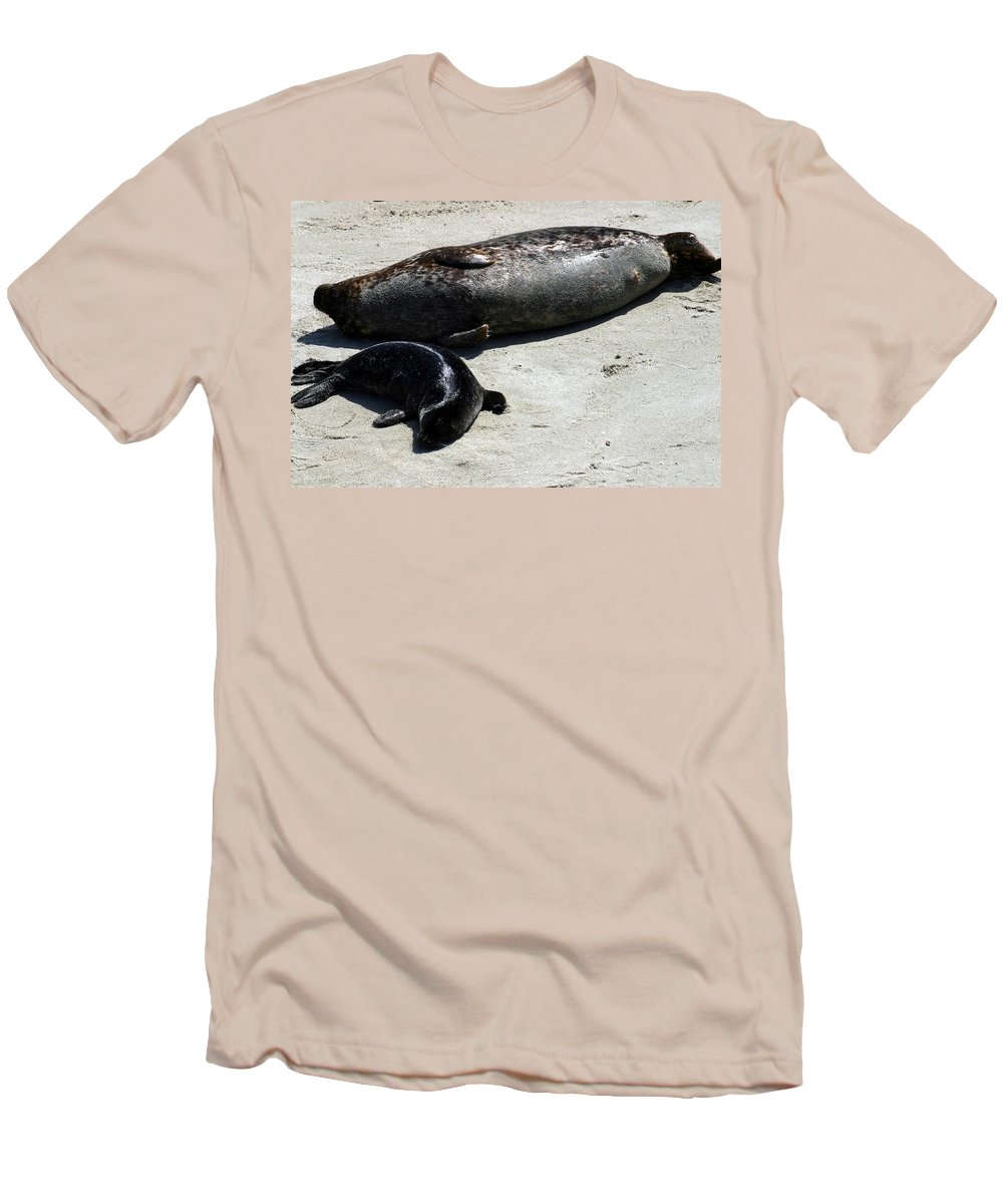 Seal Men's T-Shirt (Athletic Fit) featuring the photograph Two Seals by Anthony Jones