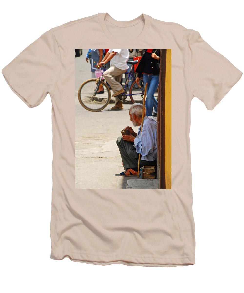 Beggar Men's T-Shirt (Athletic Fit) featuring the photograph Un Peso Por Favor by Skip Hunt