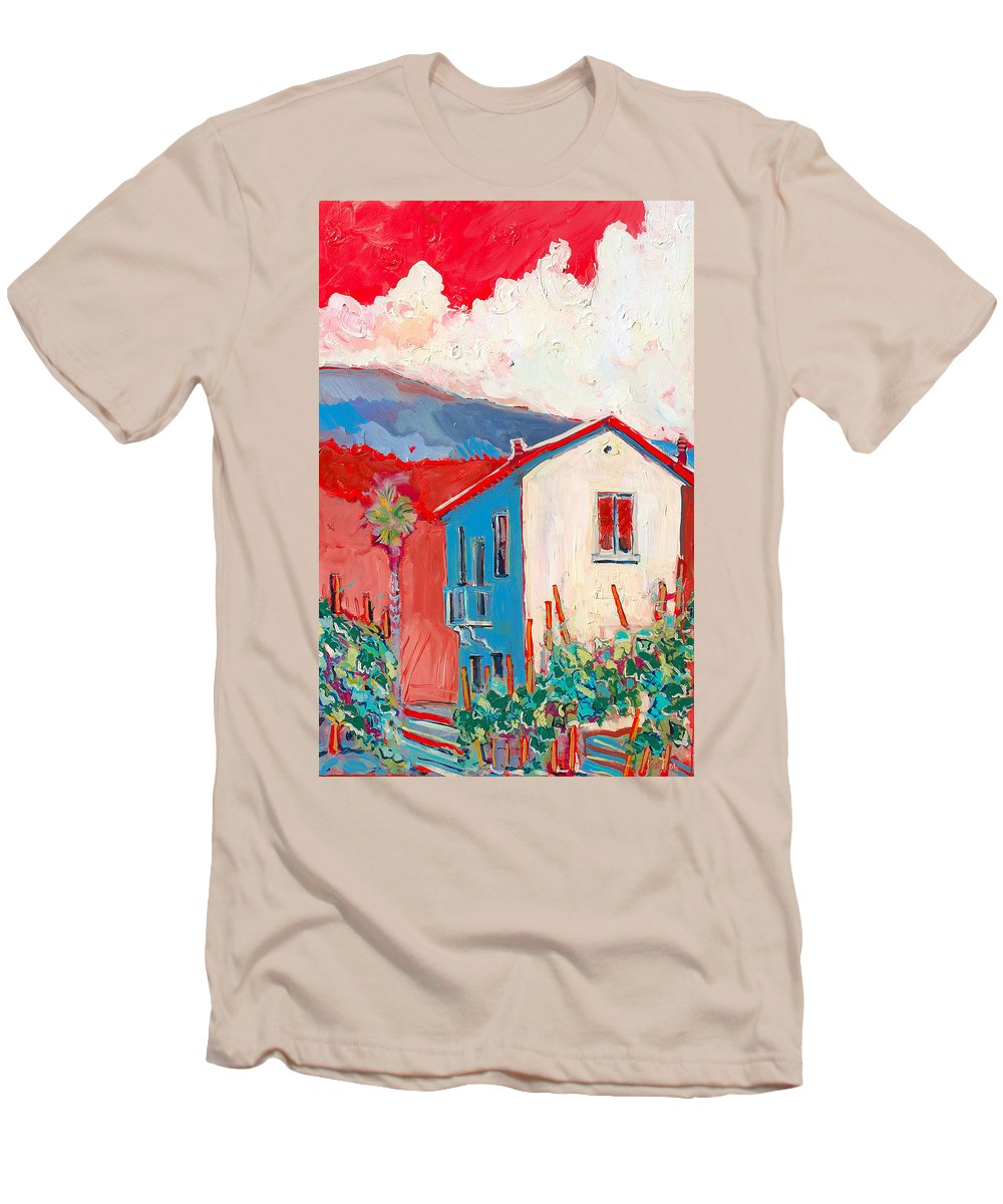 Tuscany Men's T-Shirt (Athletic Fit) featuring the painting Vecchio Casa by Kurt Hausmann