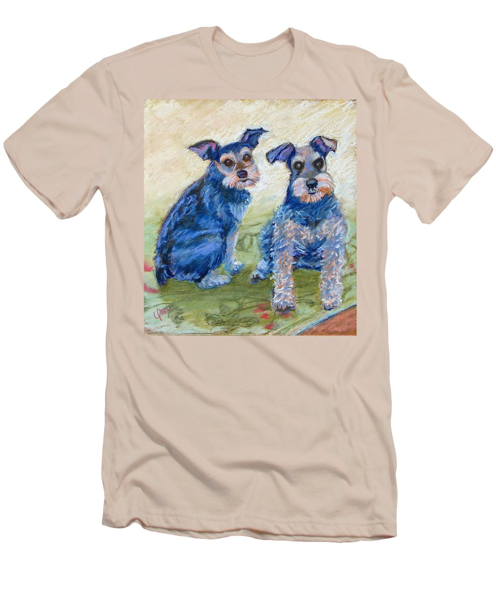 Dogs Men's T-Shirt (Athletic Fit) featuring the painting Vickie's Pups by Laurie Paci
