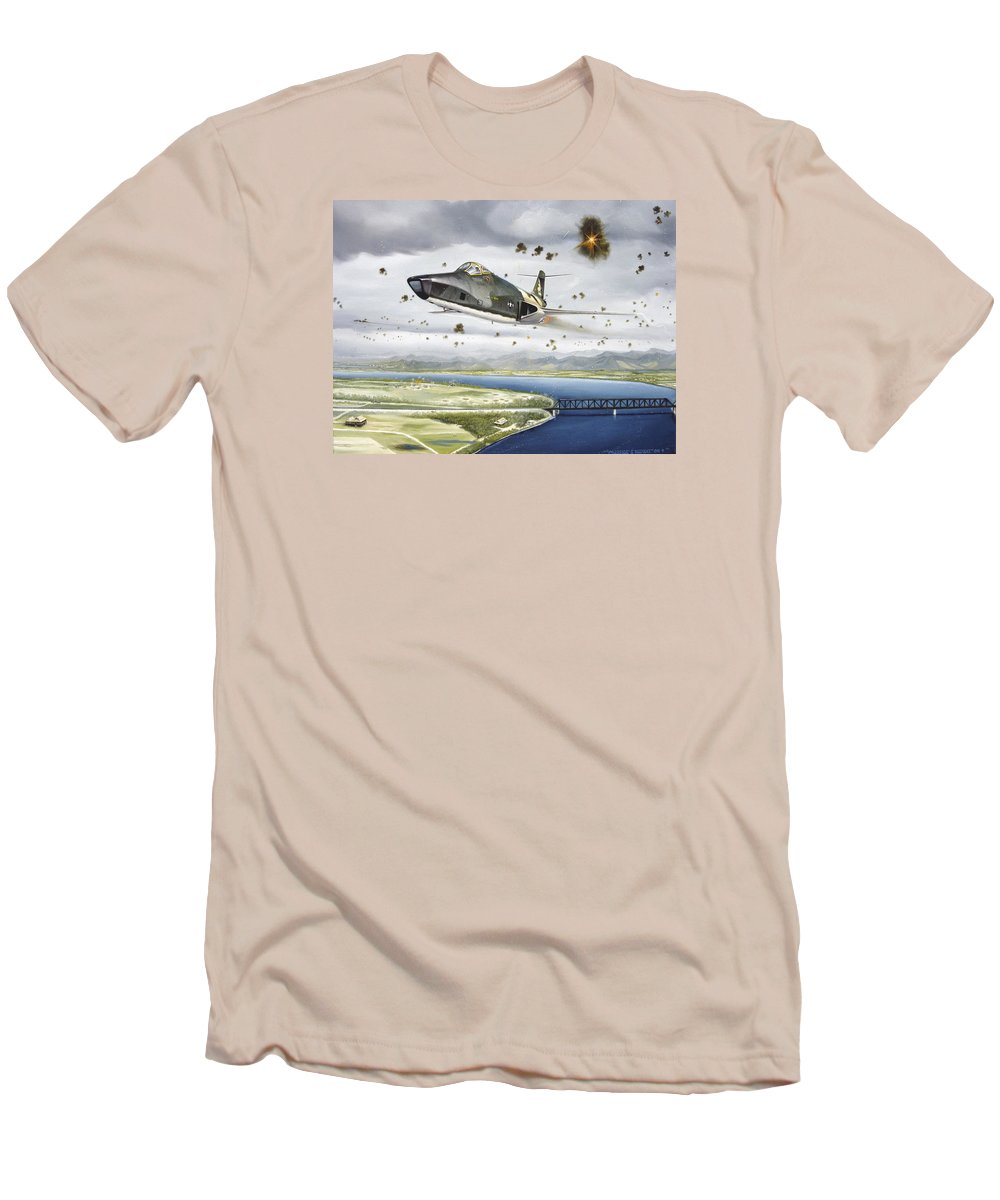 Military Men's T-Shirt (Athletic Fit) featuring the painting Voodoo Vs The Dragon by Marc Stewart