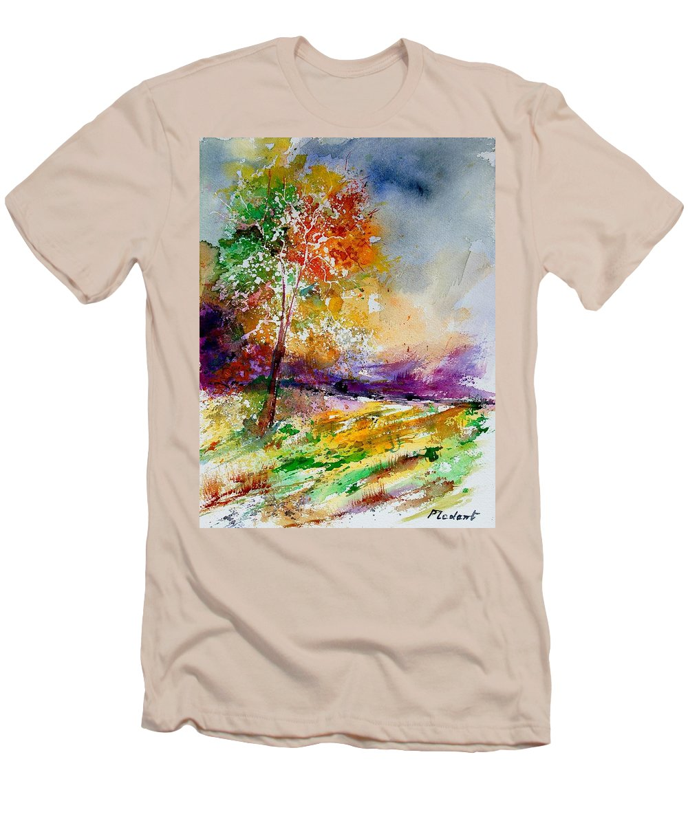 Spring Men's T-Shirt (Athletic Fit) featuring the painting Watercolor 100507 by Pol Ledent