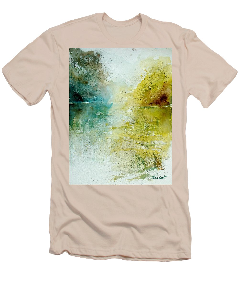 Water Men's T-Shirt (Athletic Fit) featuring the painting Watercolor 111207 by Pol Ledent