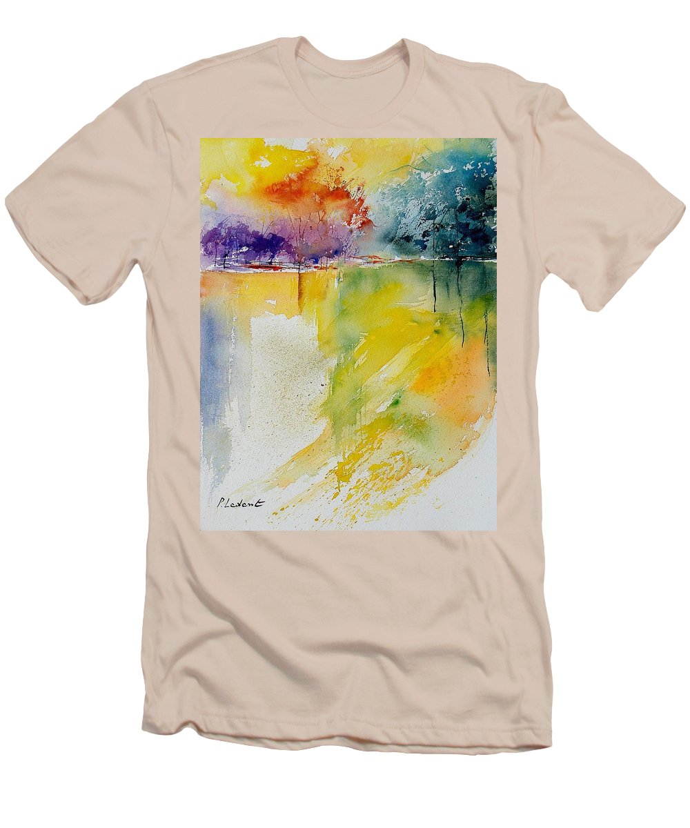 Water Men's T-Shirt (Athletic Fit) featuring the painting Watercolor 241008 by Pol Ledent