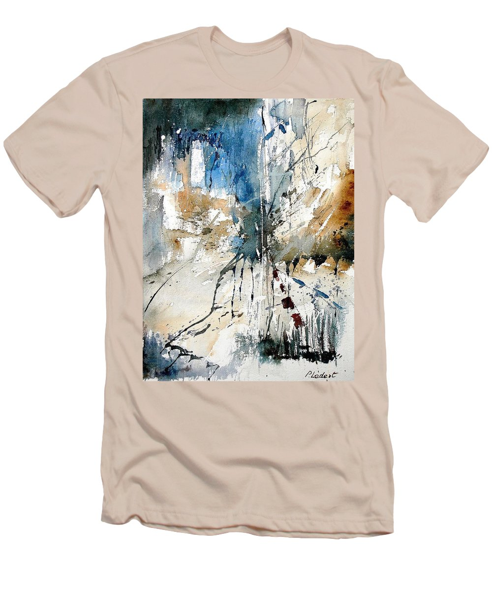 Abstract Men's T-Shirt (Athletic Fit) featuring the painting Watercolor 251108 by Pol Ledent