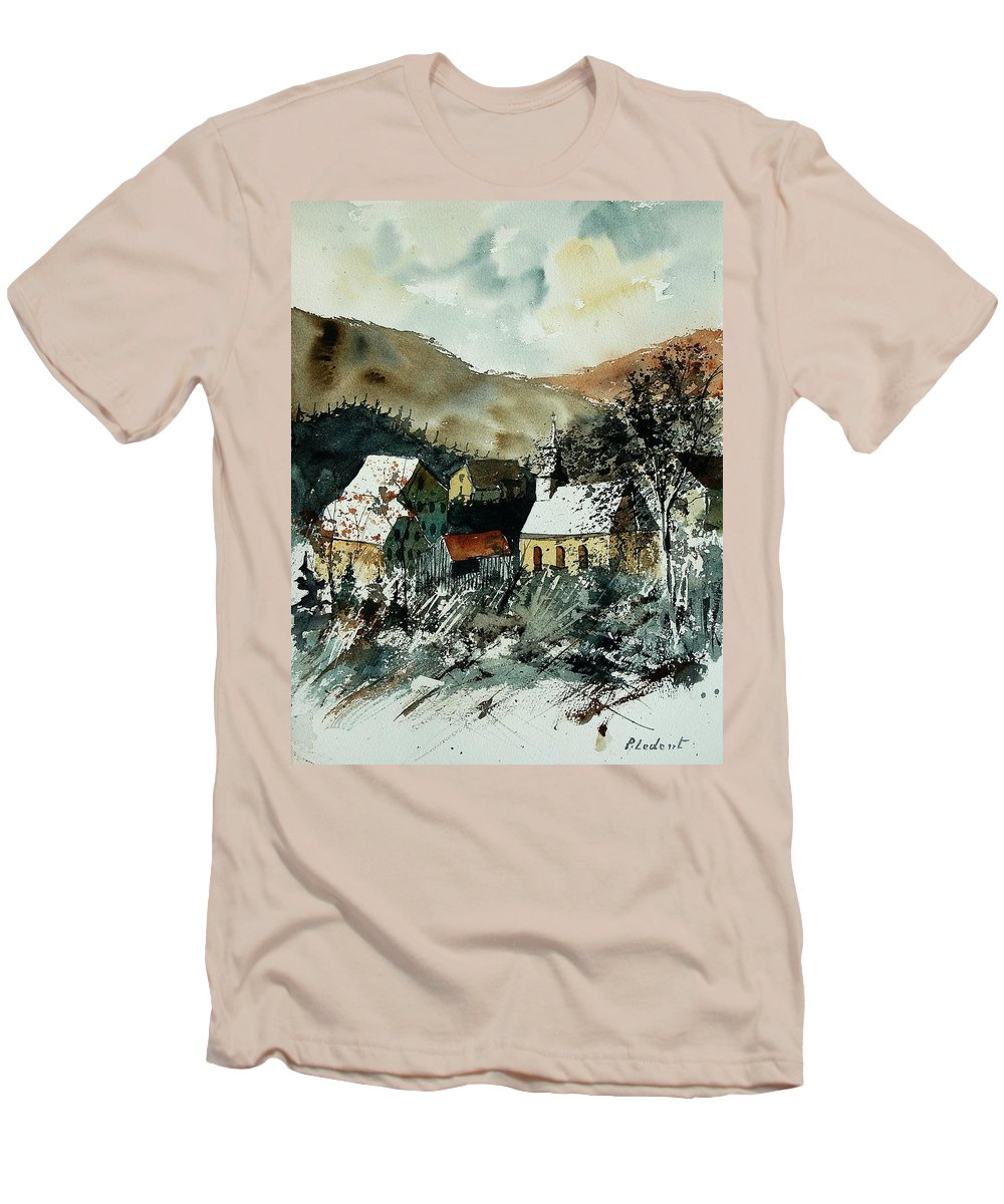 Winter Men's T-Shirt (Athletic Fit) featuring the painting Watercolor 260107 by Pol Ledent
