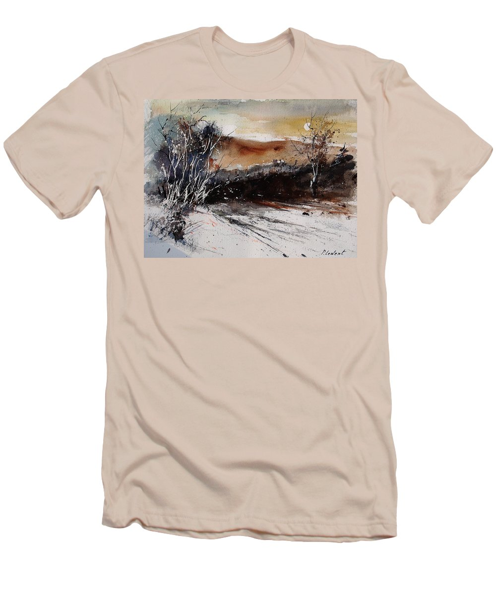 Tree Men's T-Shirt (Athletic Fit) featuring the painting Watercolor 270908 by Pol Ledent