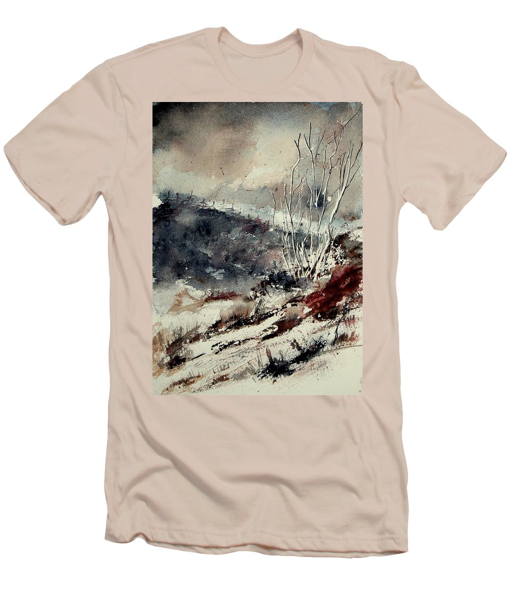 Winter Men's T-Shirt (Athletic Fit) featuring the painting Watercolor 281207 by Pol Ledent