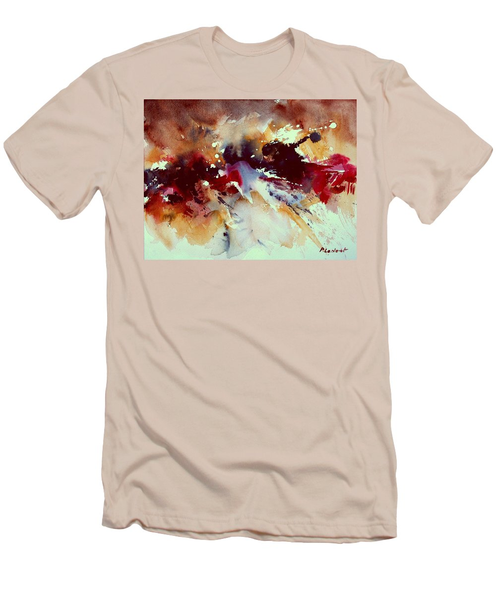Abstract Men's T-Shirt (Athletic Fit) featuring the painting Watercolor 301107 by Pol Ledent