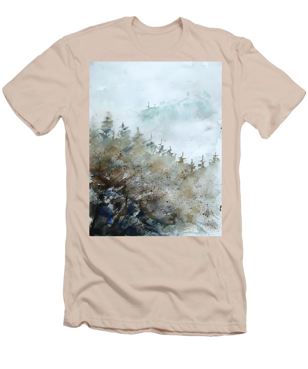Tree Men's T-Shirt (Athletic Fit) featuring the painting Watercolor 356214 by Pol Ledent
