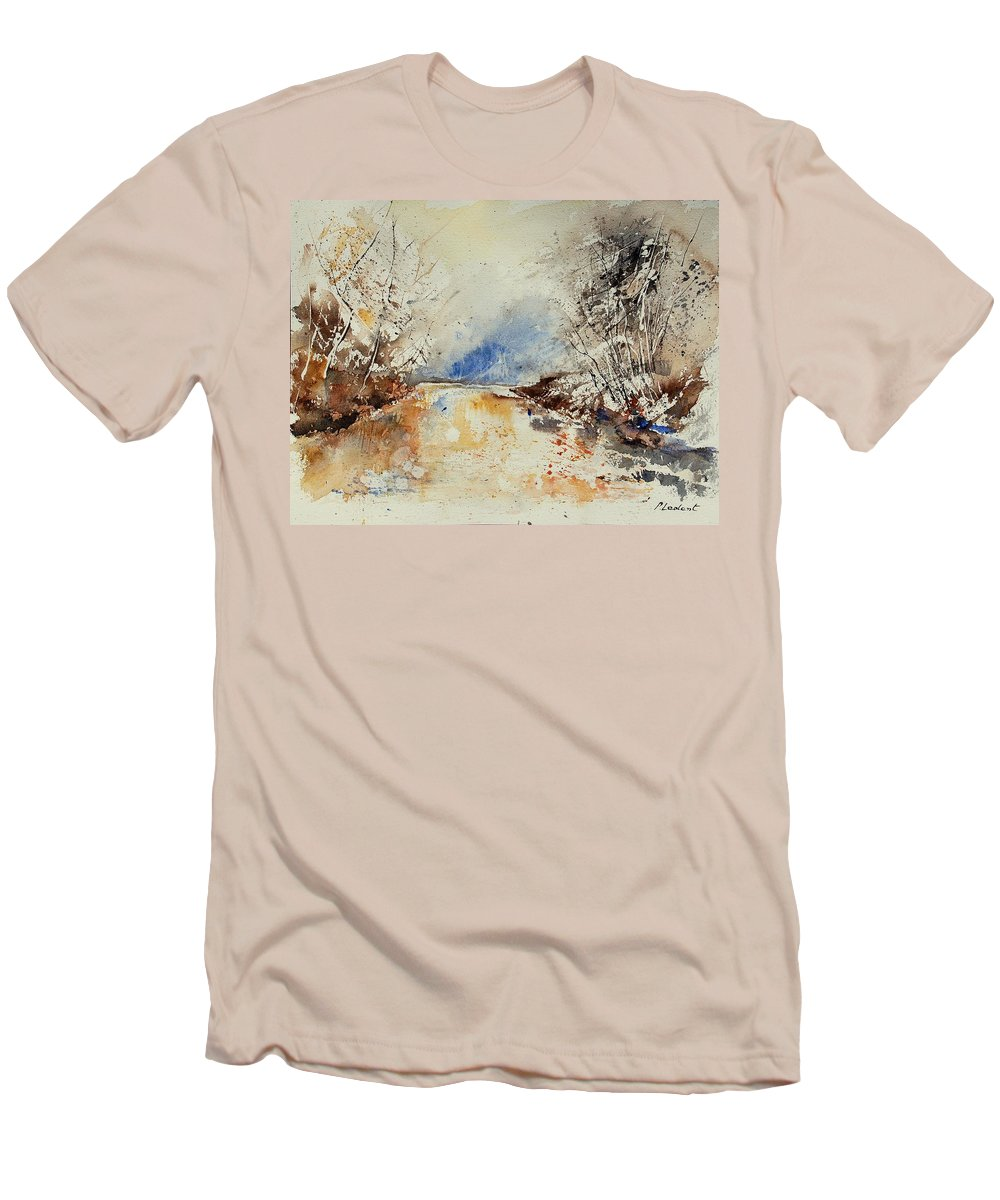 Water Men's T-Shirt (Athletic Fit) featuring the painting Watercolor 903002 by Pol Ledent