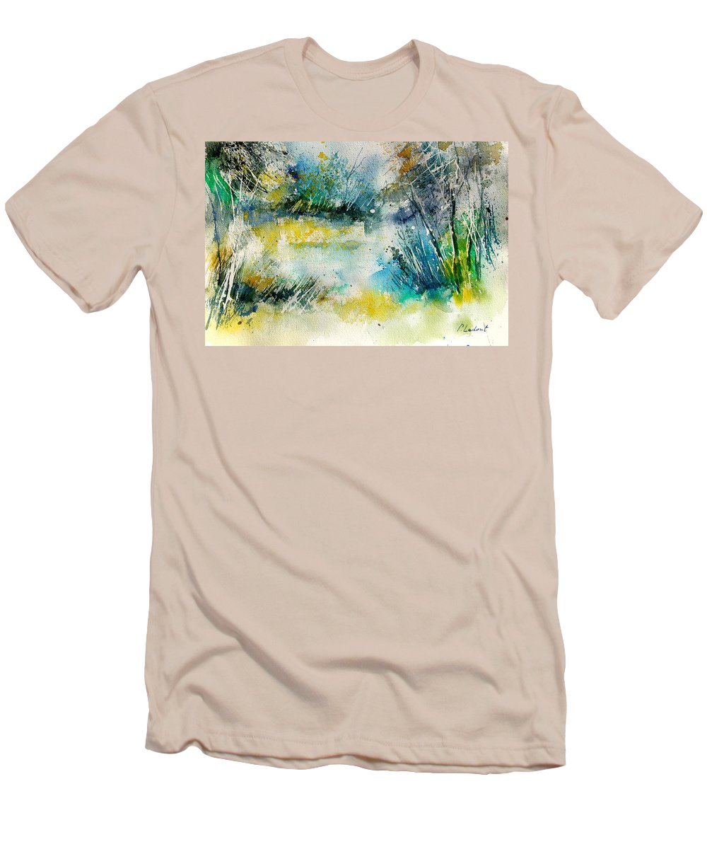 Water Men's T-Shirt (Athletic Fit) featuring the painting Watercolor 906020 by Pol Ledent