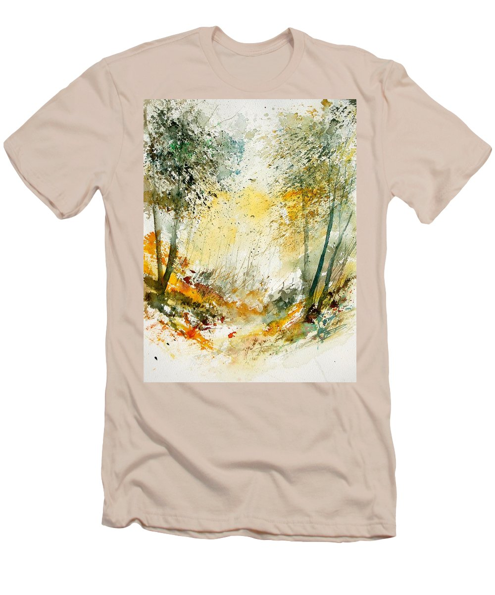 Tree Men's T-Shirt (Athletic Fit) featuring the painting Watercolor 908021 by Pol Ledent