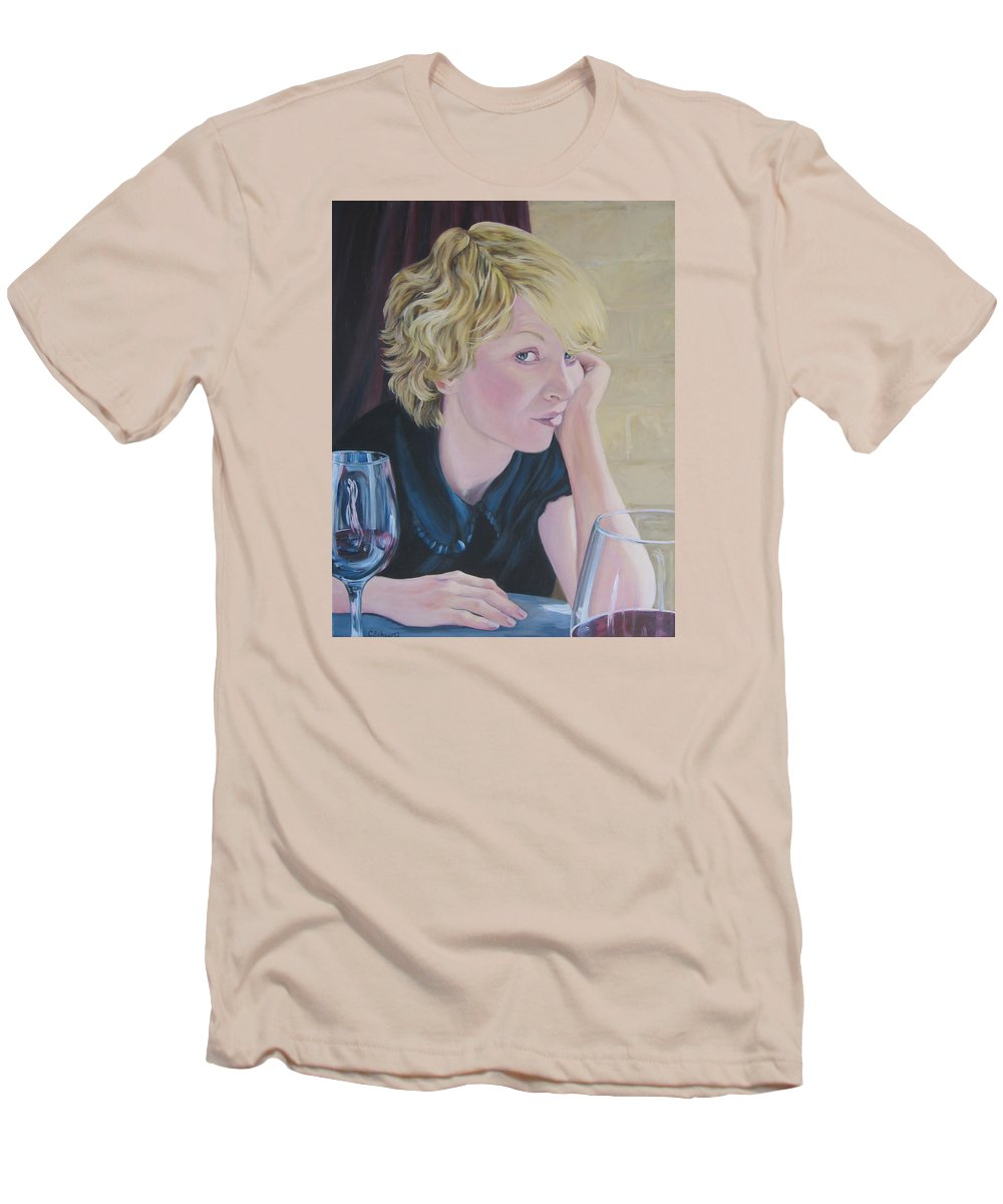 Portrait Men's T-Shirt (Athletic Fit) featuring the painting Well by Connie Schaertl