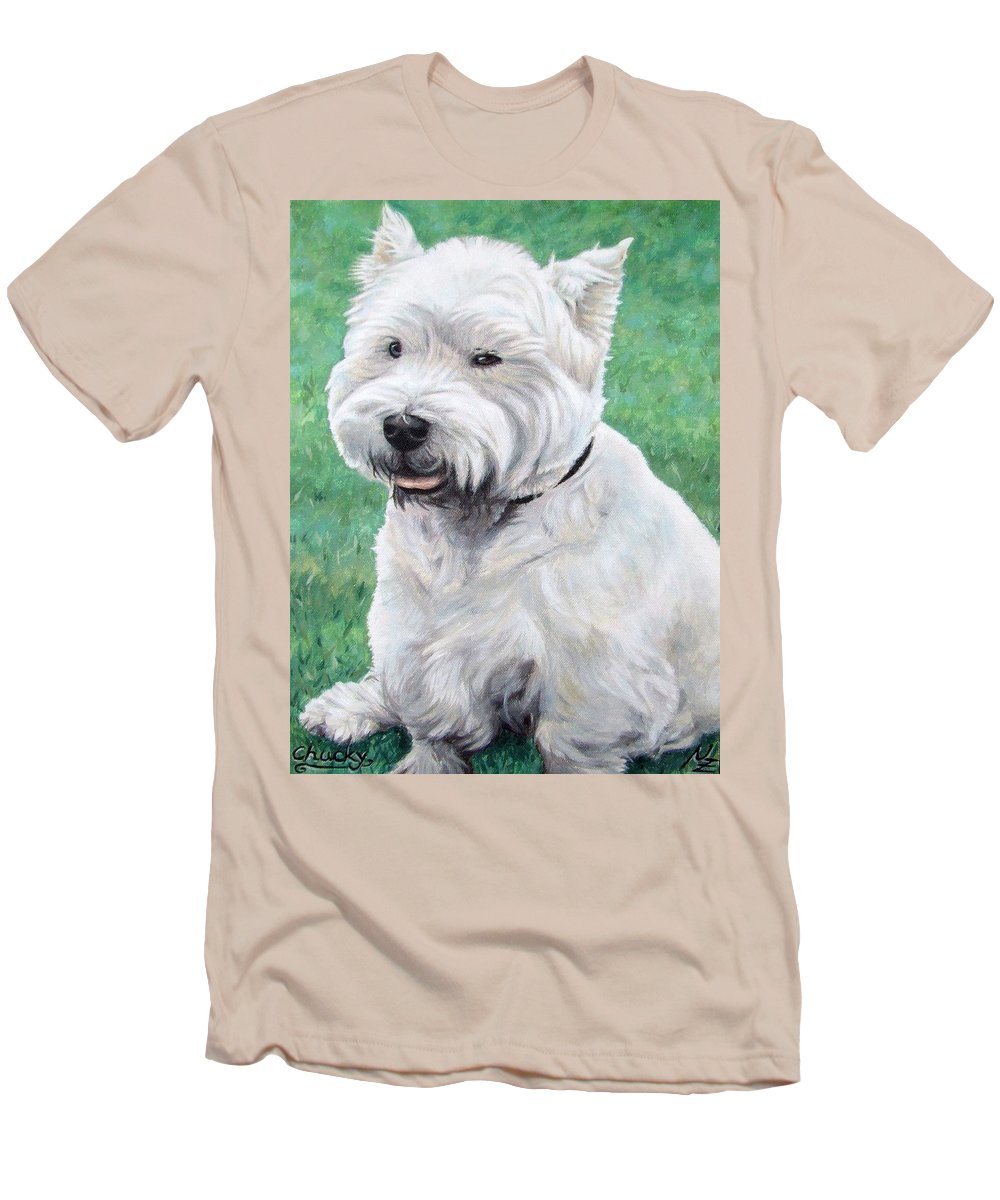 Dog Men's T-Shirt (Athletic Fit) featuring the painting West Highland Terrier by Nicole Zeug