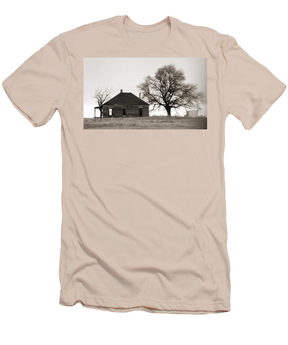 Texas Men's T-Shirt (Athletic Fit) featuring the photograph West Texas Winter by Marilyn Hunt