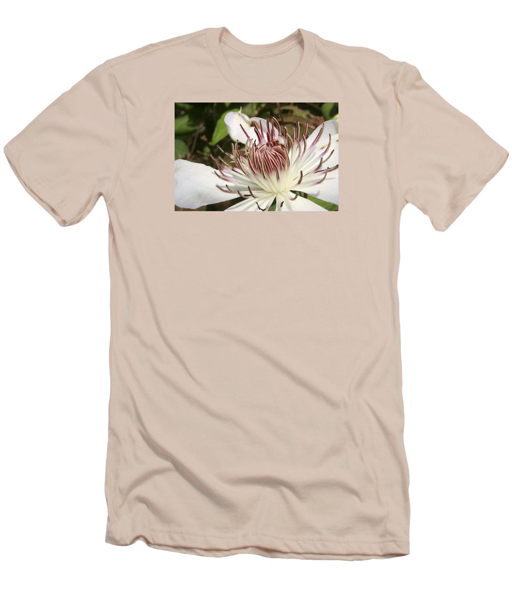 Clematis Men's T-Shirt (Athletic Fit) featuring the photograph White Clematis Henryi by Margie Wildblood