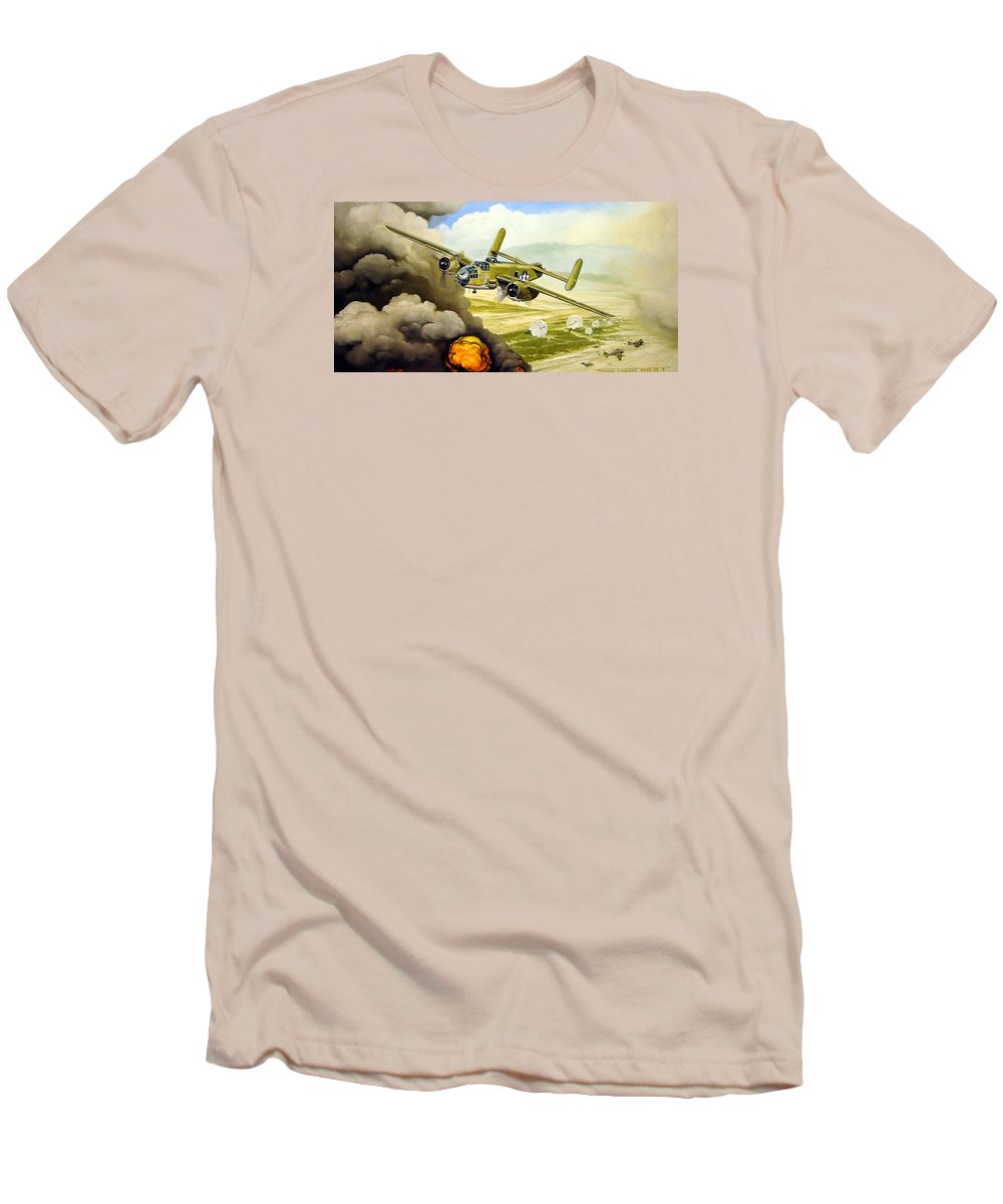 Aviation Men's T-Shirt (Athletic Fit) featuring the painting Wild Cargo by Marc Stewart