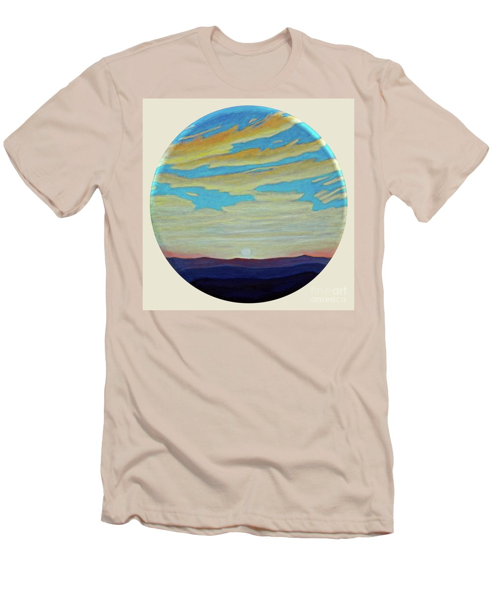 Landscape Men's T-Shirt (Athletic Fit) featuring the painting Yesterday by Brian Commerford