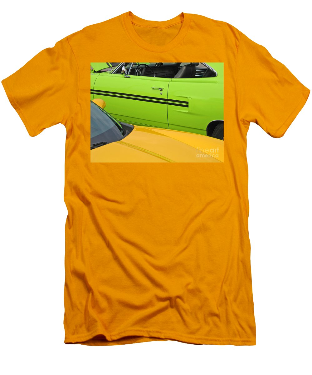 Car Men's T-Shirt (Athletic Fit) featuring the photograph Classy Classics by Ann Horn