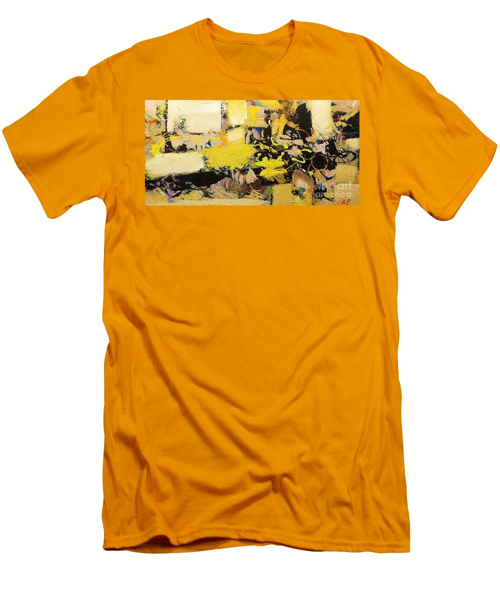 Landscape Men's T-Shirt (Athletic Fit) featuring the painting Euclid by Allan P Friedlander