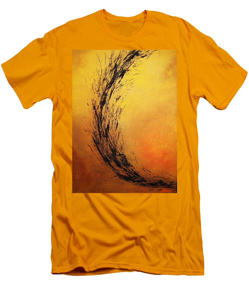 Abstract Men's T-Shirt (Athletic Fit) featuring the painting Instinct by Todd Hoover