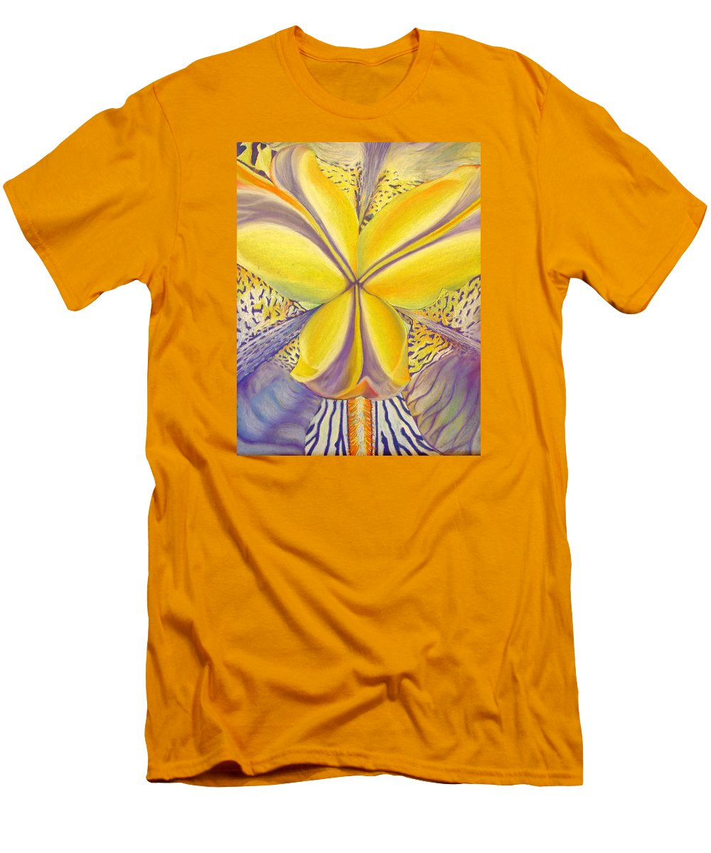 Flower Men's T-Shirt (Athletic Fit) featuring the drawing Iris by Joshua Morton