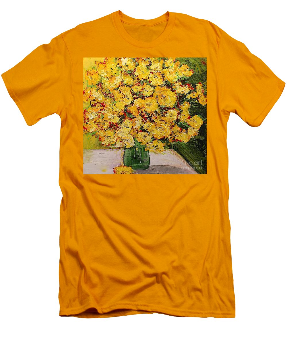 Landscape Men's T-Shirt (Athletic Fit) featuring the painting New Beginnings by Allan P Friedlander