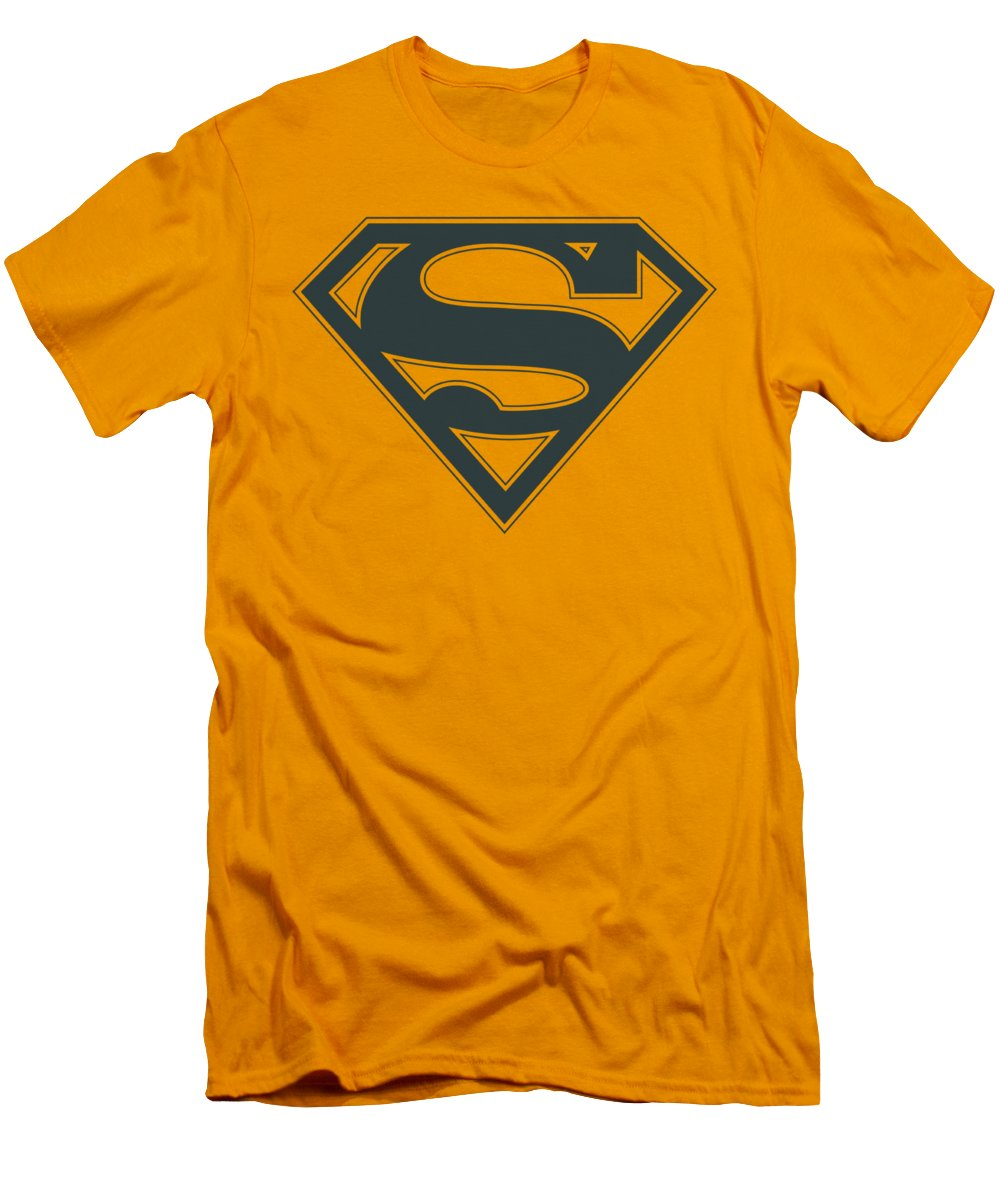 Superman navy and gold shield t shirt for sale by brand a for Make your own superman shirt