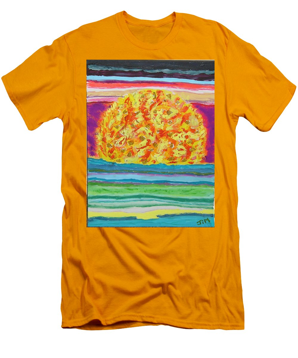 Hot Men's T-Shirt (Athletic Fit) featuring the painting The Sun Drinks The Ocean And Eats The Sky by James Campbell