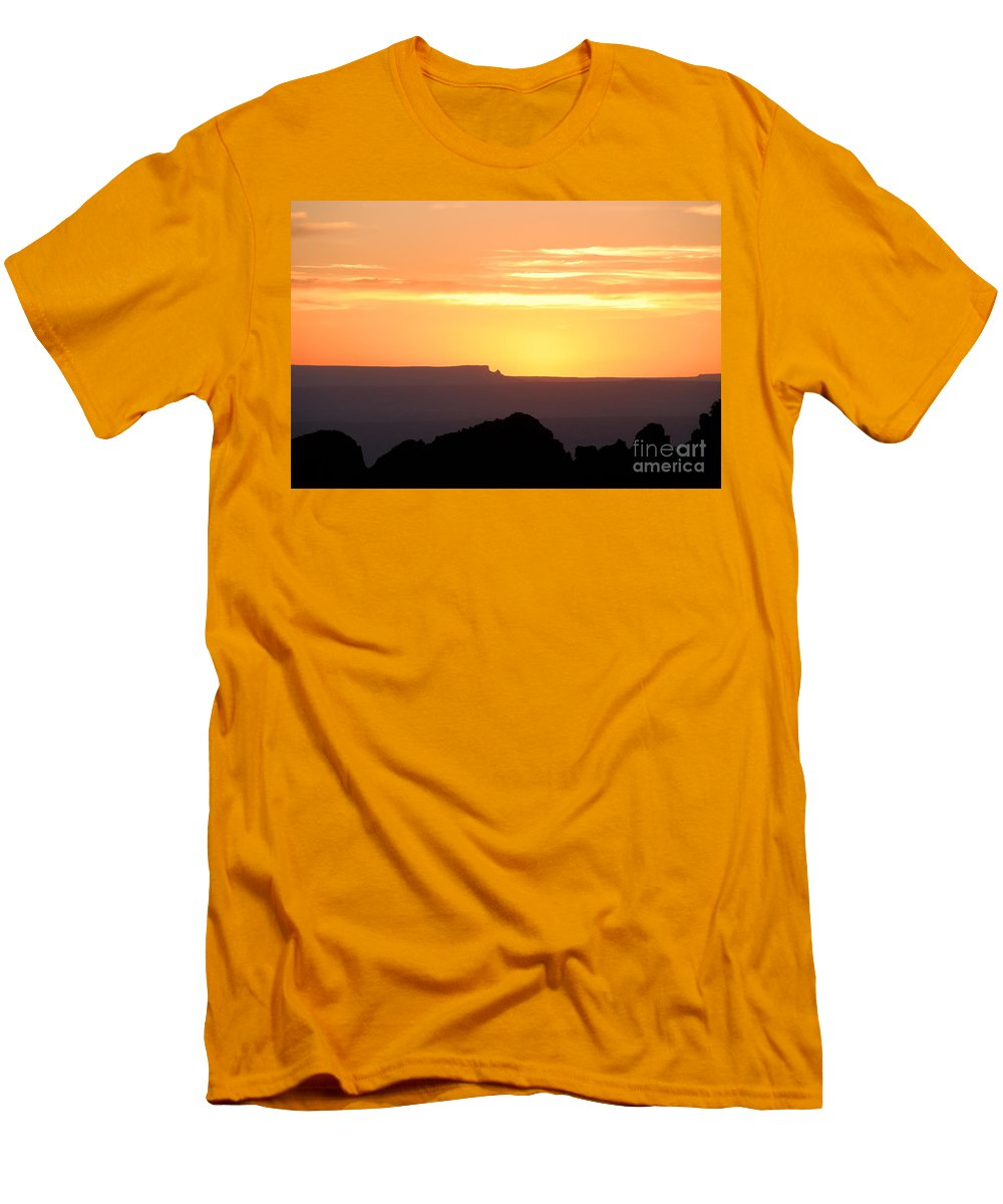 Western Us Men's T-Shirt (Athletic Fit) featuring the photograph A Western Sunset by David Lee Thompson