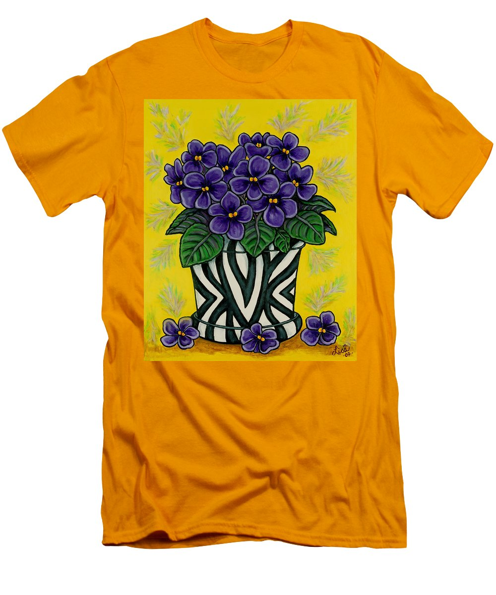 Violets Men's T-Shirt (Athletic Fit) featuring the painting African Queen by Lisa Lorenz