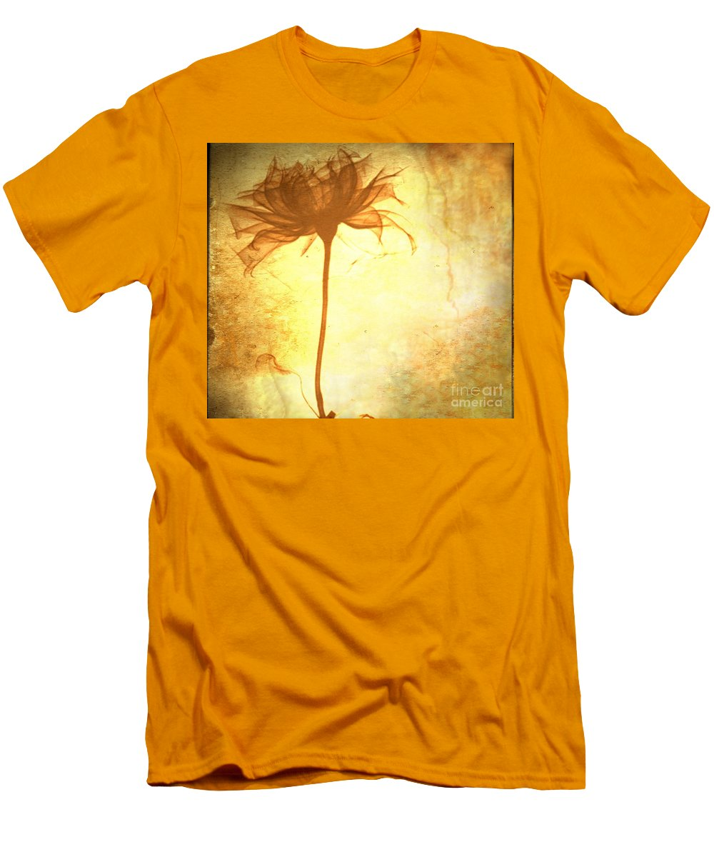 Flower Men's T-Shirt (Athletic Fit) featuring the painting Against All Odds by Jacky Gerritsen