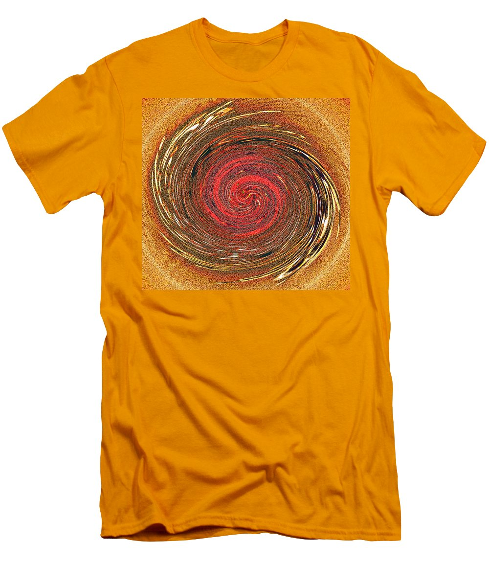 Abstract Men's T-Shirt (Athletic Fit) featuring the digital art Atlantean Fire by Don Quackenbush
