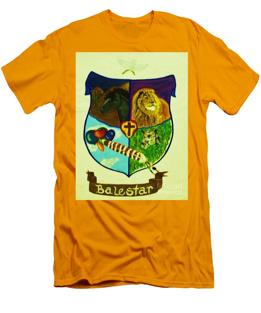 Lion Men's T-Shirt (Athletic Fit) featuring the painting Balestar Crest by Jamey Balester