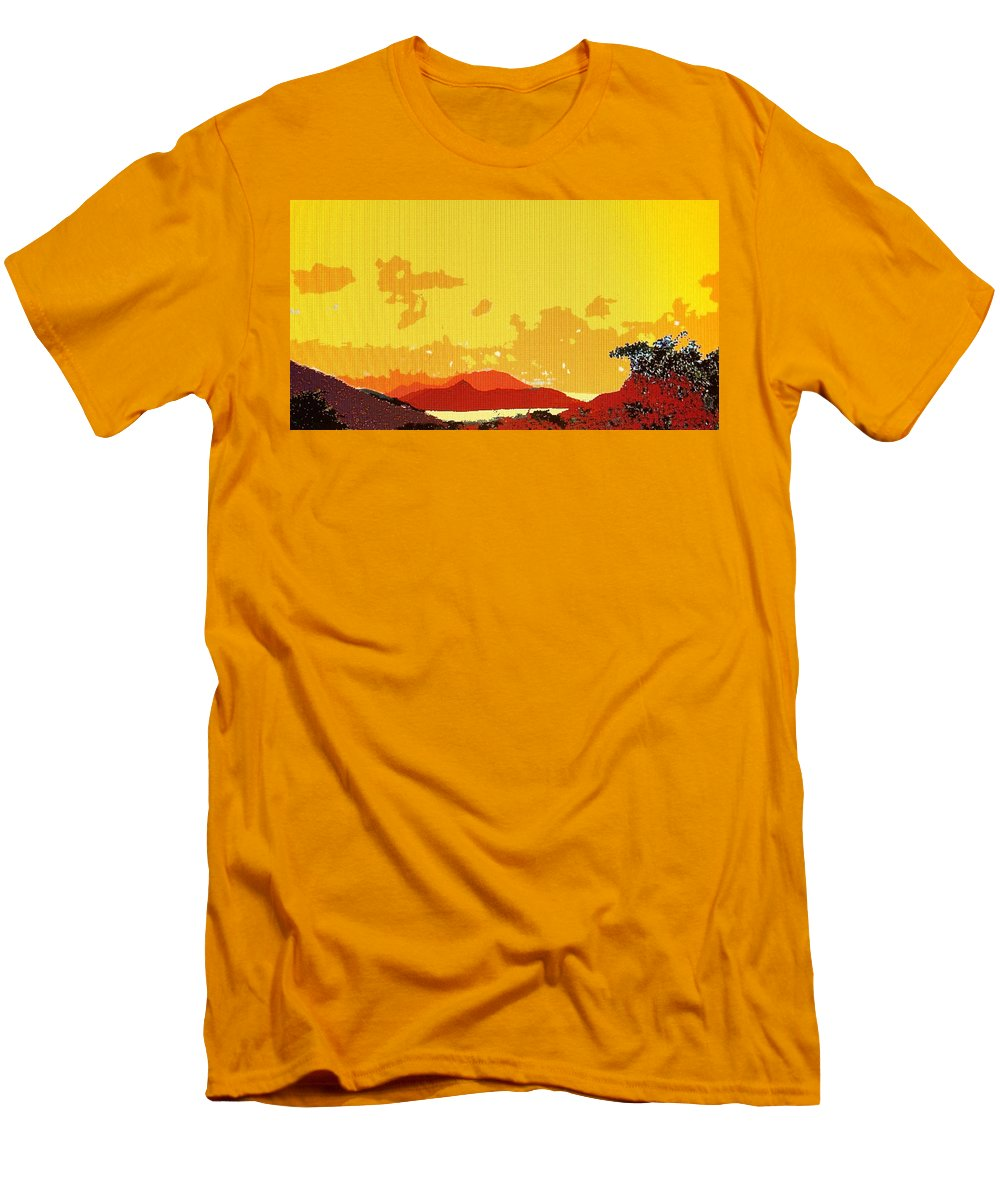 Caribbean Men's T-Shirt (Athletic Fit) featuring the photograph Caribbean Sky by Ian MacDonald