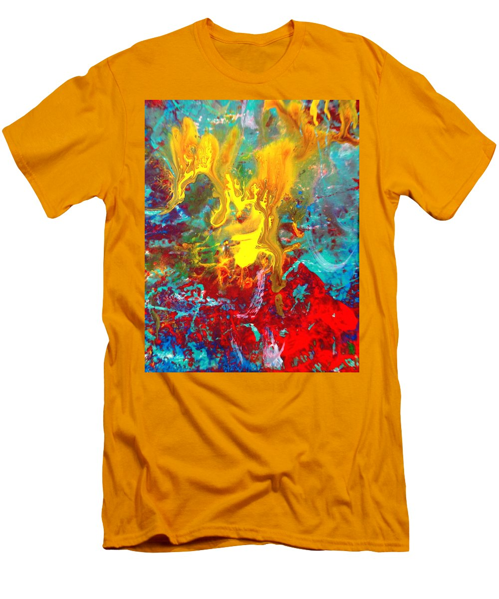 Abstract Men's T-Shirt (Athletic Fit) featuring the painting Dawn Of The Universe by Natalie Holland