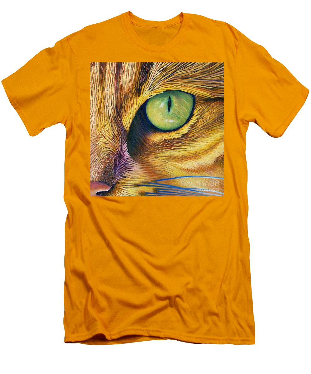 Cat Men's T-Shirt (Athletic Fit) featuring the painting El Gato by Brian Commerford