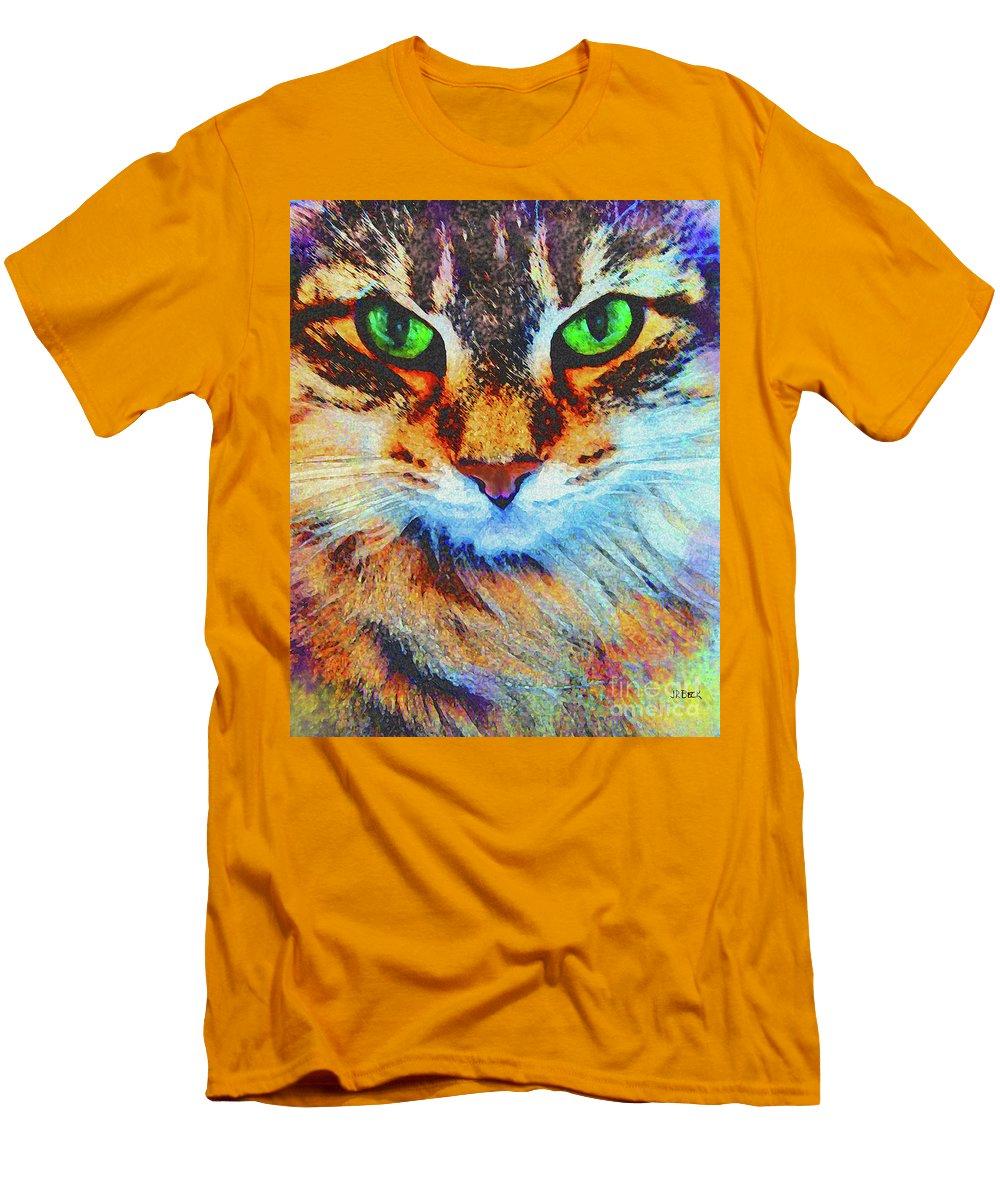 Emerald Gaze Men's T-Shirt (Athletic Fit) featuring the digital art Emerald Gaze by John Beck