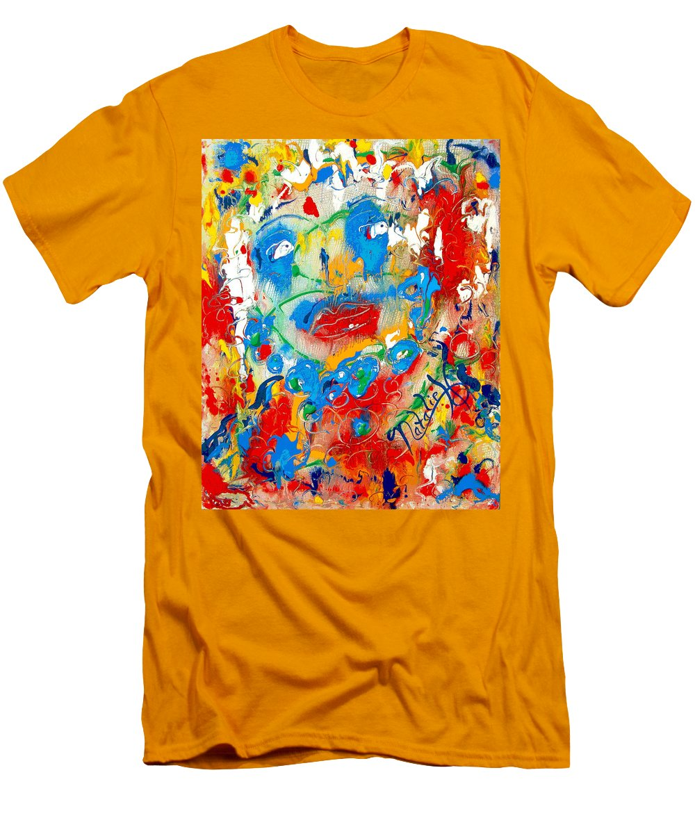 Woman Men's T-Shirt (Athletic Fit) featuring the painting Fantasia by Natalie Holland