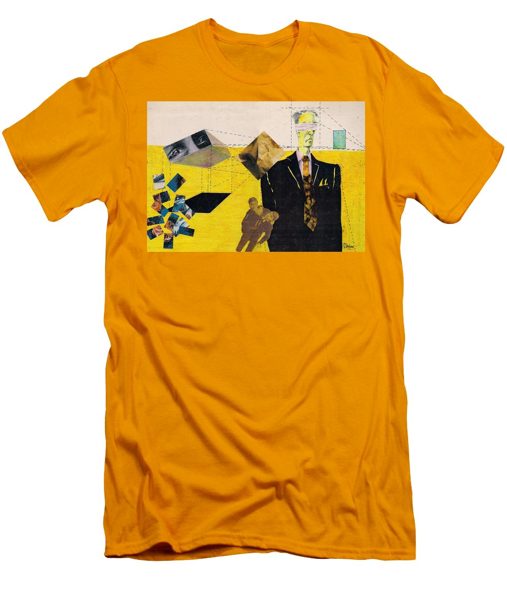 Idol Icon Conflict Lies Vicious Men's T-Shirt (Athletic Fit) featuring the mixed media Idolatry by Veronica Jackson