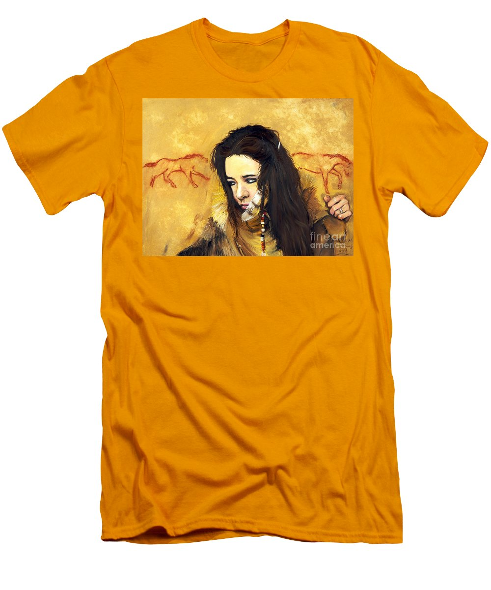 Southwest Art Men's T-Shirt (Athletic Fit) featuring the painting Journey by J W Baker