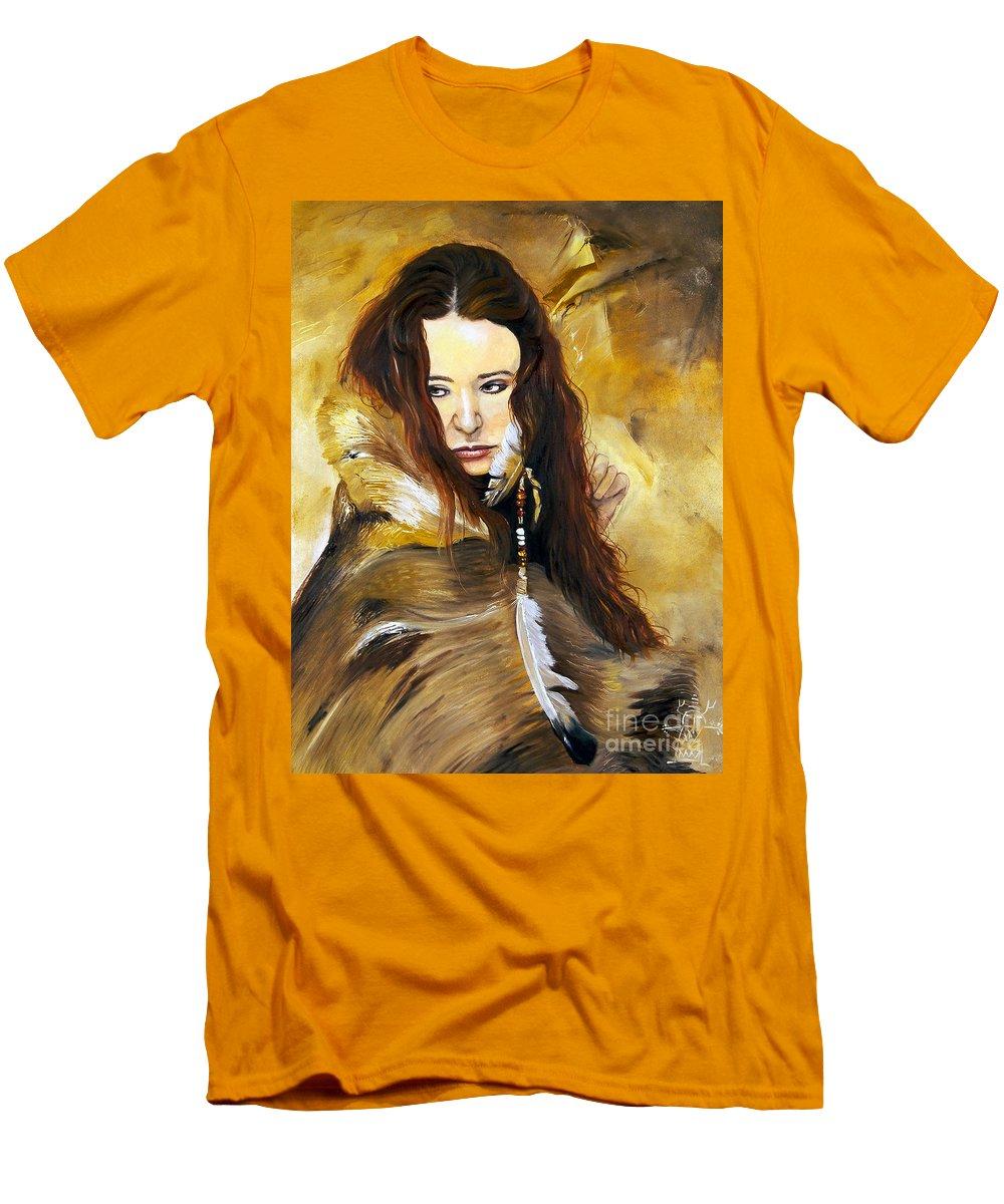 Southwest Art Men's T-Shirt (Athletic Fit) featuring the painting Lament by J W Baker