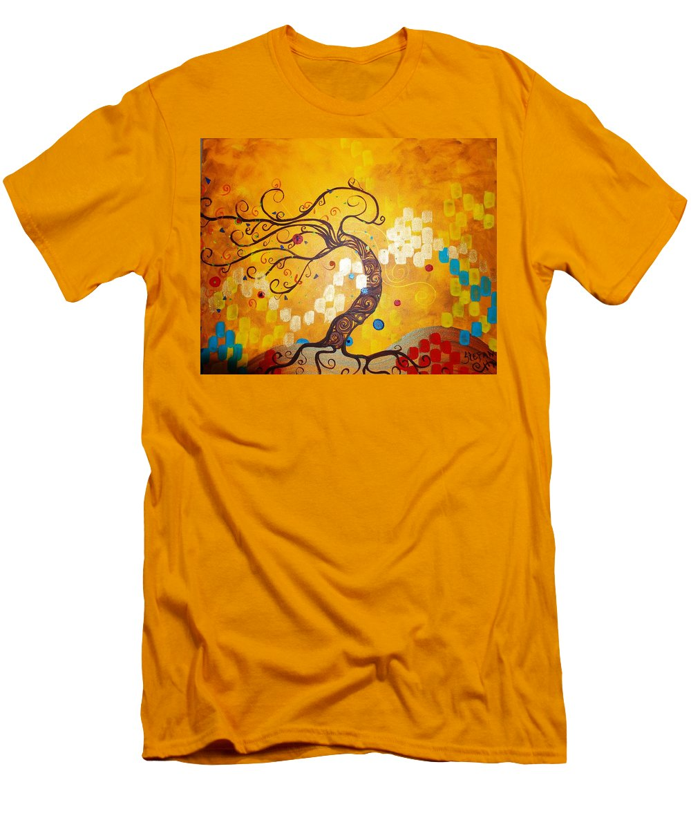 Men's T-Shirt (Athletic Fit) featuring the painting Life Is A Ball by Stefan Duncan